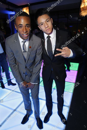 Khylin Rhambo and Brandon Soo Hoo seen at Summit Entertainment's Los Angeles Premiere of 'Ender's Game', on Monday, Oct, 28, 2013 in Los Angeles