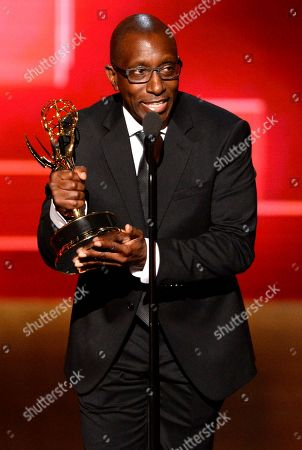 EXCLUSIVE - Greg Phillinganes accepts the award for outstanding music direction for his work on Stevie Wonder: Songs In The Key Of Life - An All-Star GRAMMY Salute at the Television Academy's Creative Arts Emmy Awards at Microsoft Theater, in Los Angeles