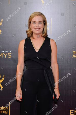 Zandy Hartig arrives at night two of the Television Academy's 2016 Creative Arts Emmy Awards at the Microsoft Theater on in Los Angeles