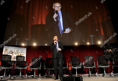 """Stock Image of MARCH 4: Academy Activities Chairman Ray Proscia participates in the Academy of Television Arts & Sciences Presents An Evening With """"Revenge"""" panel at the Leonard H. Goldenson Theater at the Academy of Television Arts & Sciences on in North Hollywood, California"""