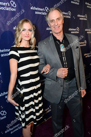 """Sorel Carradine, left, and Keith Carradine arrive at the 22nd annual """"A Night At Sardi's"""" to benefit the Alzheimer's Association at the Beverly Hilton Hotel, in Beverly Hills, Calif"""