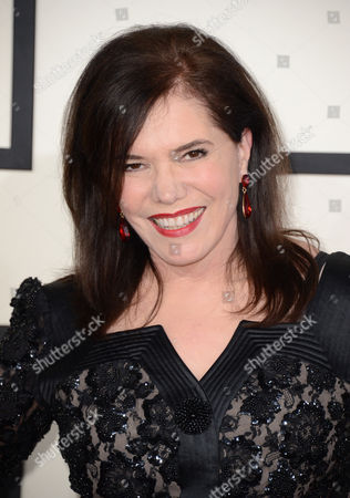 Lorraine Feather arrives at the 56th annual GRAMMY Awards at Staples Center, in Los Angeles