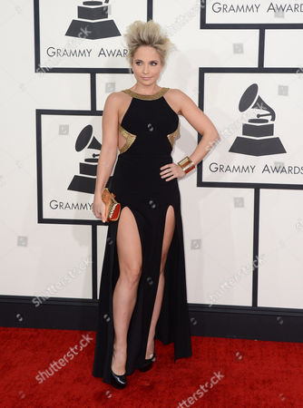 Cara Quici arrives at the 56th annual GRAMMY Awards at Staples Center, in Los Angeles
