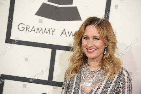 Jessi Alexander arrives at the 56th annual GRAMMY Awards at Staples Center, in Los Angeles
