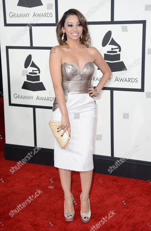 Desiree Estrada arrives at the 56th annual GRAMMY Awards at Staples Center, in Los Angeles