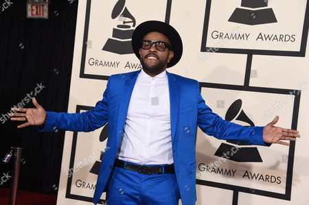 Stock Image of Verse Simmonds arrives at the 57th annual Grammy Awards at the Staples Center, in Los Angeles