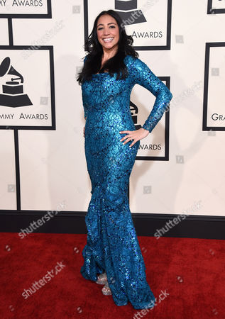 Stock Picture of Leslie Cartaya arrives at the 57th annual Grammy Awards at the Staples Center, in Los Angeles