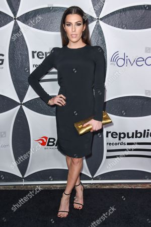 Monique Zordan arrives at Republic Records & Big Machine Label Group Private Celebration After Party at The Warwick, in Los Angeles