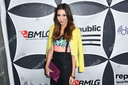 Stock Picture of Michelle Marie arrives at Republic Records & Big Machine Label Group Private Celebration After Party at The Warwick, in Los Angeles