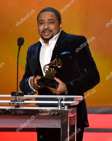Smokie Norful accepts the award for best gospel performance/song for No Greater Love at the 57th annual Grammy Awards, in Los Angeles