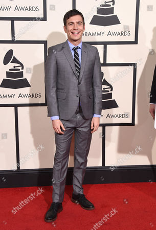 Tim Kubart arrives at the 58th annual Grammy Awards at the Staples Center, in Los Angeles