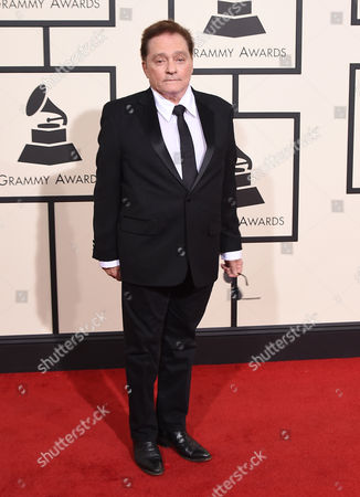Marty Balin arrives at the 58th annual Grammy Awards at the Staples Center, in Los Angeles