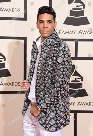 Al Walser arrives at the 58th annual Grammy Awards at the Staples Center, in Los Angeles