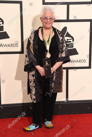Stock Picture of Janis Ian arrives at the 58th annual Grammy Awards at the Staples Center, in Los Angeles