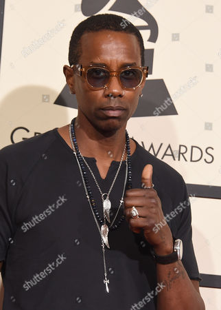 Stock Image of Oscar Seaton arrives at the 58th annual Grammy Awards at the Staples Center, in Los Angeles