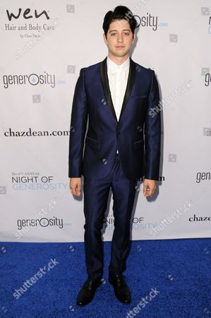 Chris Galya arrives at The 6th Annual Night Of Generosity Benefit, in Beverly Hills, Calif