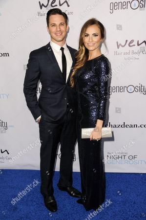 Matt Lanter, left, and Angela Stacy Lanter arrive at The 6th Annual Night Of Generosity Benefit, in Beverly Hills, Calif