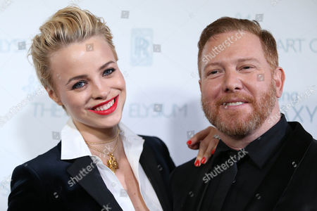 Jessica Roffey and Ryan Kavanaugh arrive at The Art Of Elysium Heaven Gala at Hangar 8 on in Santa Monica, CA