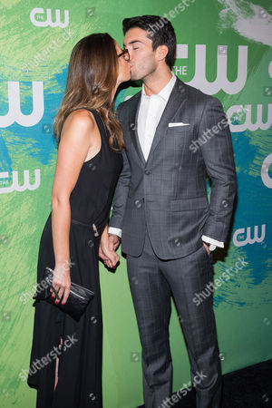 Emily Foxler and Justin Baldoni attend the The CW Network's 2016 Upfront Presentation, in New York