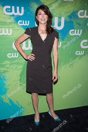 Amy Pietz attends the The CW Network's 2016 Upfront Presentation, in New York