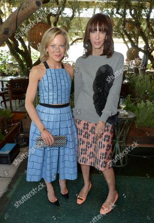 Carol McColgin, left and Merle Ginsberg attend The Hollywood Reporter & Jimmy Choo Celebration of the Most Powerful Stylists in Hollywood,, in West Hollywood, Calif