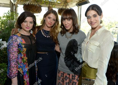 From left, Ilaria Urbinati, Sara Riff, Merle Ginsberg and Lizzy Caplan attend The Hollywood Reporter & Jimmy Choo Celebration of the Most Powerful Stylists in Hollywood,, in West Hollywood, Calif