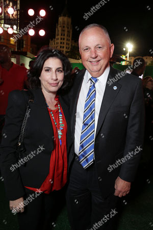 Warner Bros.' Sue Kroll and Executive Producer Dick Cook at The Los Angeles Premier of Warner Bros. Pictures' and Legendary Picture's 42, on Tuesday, April, 9th, 2013 in Los Angeles