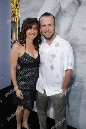Lucas Black and Maggie O'Brien at The Los Angeles Premiere of Warner Bros. Pictures' and Legendary Pictures' 42, on Tuesday, April, 9th, 2013 in Los Angeles