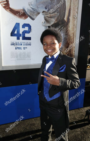 """Dusan Brown at The Los Angeles Premiere of Warner Bros. Pictures' and Legendary Pictures' """"42"""", on Tuesday, April, 9th, 2013 in Los Angeles"""