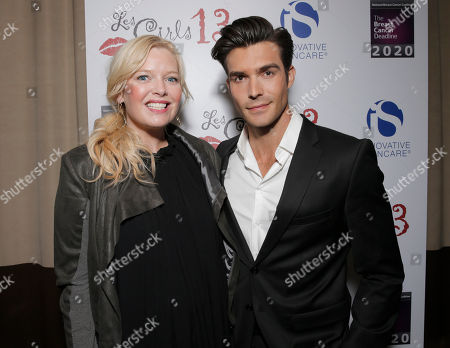 Melissa Peterman and Peter Porte attend the National Breast Cancer Coalition Fund's 13th Annual Les Girls on in Hollywood, Calif