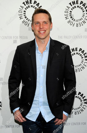 "Kevin Biegel, creator and executive producer of the new television series ""Enlisted,"" poses at the premiere screening of the show, at The Paley Center for Media in Beverly Hills, Calif"