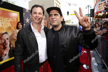 Producer David Alpert and Director Nima Nourizadeh seen at The World Premiere of Lionsgate's 'American Ultra' at Ace Hotel, in Los Angeles, CA