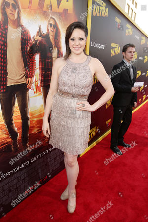 Shelley Regner seen at The World Premiere of Lionsgate's 'American Ultra' at Ace Hotel, in Los Angeles, CA