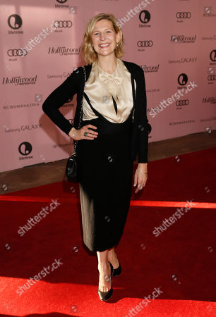 Sue Naegle arrives at The Hollywood Reporter's Women in Entertainment breakfast at The Beverly Hills Hotel, in Beverly Hills, Calif