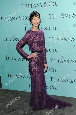 Model Ji Hye Park attends the Tiffany & Co. Blue Book Ball at Rockefeller Center on in New York
