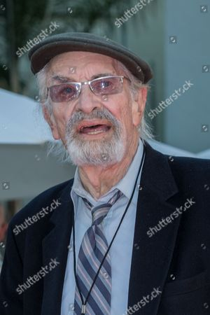 Actor Martin Landau attends Tim Burton's hand and footprint ceremony held at the TCL Chinese Theatre Imax Hollywood, in Los Angeles