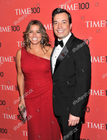 """Talk show host Jimmy Fallon and wife Nancy Juvonen attend the TIME 100 Gala celebrating the """"100 Most Influential People in the World"""" at Jazz at Lincoln Center on in New York"""