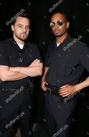 Jake M. Johnson and Damon Wayans, Jr. seen at Twentieth Century Fox 2014 Cinemacon presentation,, in Las Vegas