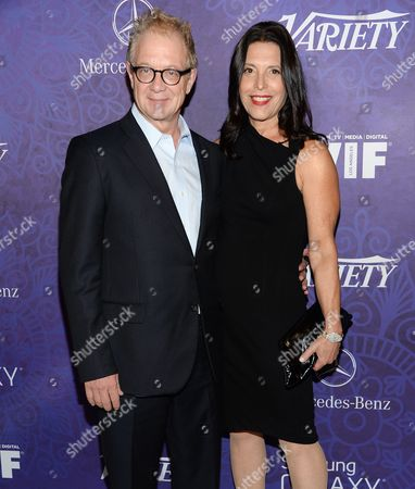 Stock Image of Jeff Perry and wife Linda Lowy arrive at Variety and Women in Film's pre-Emmy celebration at Gracias Madre on in West Hollywood, Calif