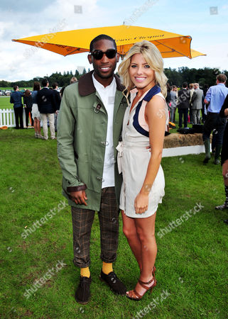 Tiny Tempah, Molly King poses at the Veuve Clicquot Gold Cup Polo at Cowdrey Park on in Midhurst