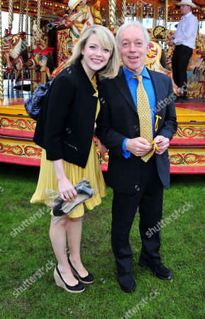 Antonia Bernath, Nicholas Grace arrives at the Veuve Clicquot Gold Cup Polo at Cowdrey Park on in Midhurst