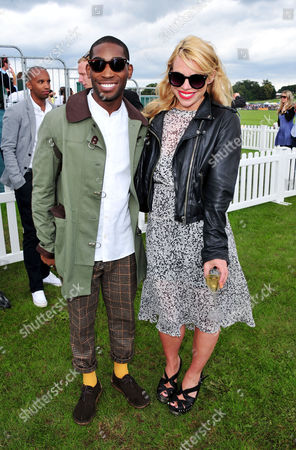Tiny Tempah, Billie Piper poses at the Veuve Clicquot Gold Cup Polo at Cowdrey Park on in Midhurst