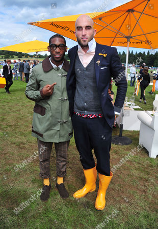 Tiny Tempah, Christopher Murray Coutts poses at the Veuve Clicquot Gold Cup Polo at Cowdrey Park on in Midhurst