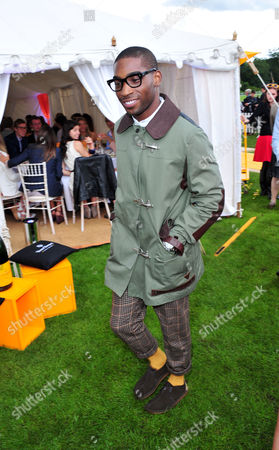 Tiny Tempah poses at the Veuve Clicquot Gold Cup Polo at Cowdrey Park on in Midhurst