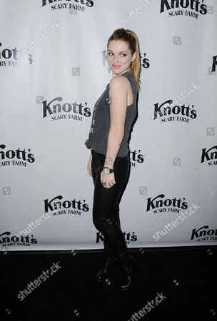 Stock Photo of Jennifer Stone attends the VIP Opening of Knotts Scary Farm HAUNT on in Buena Park, Calif