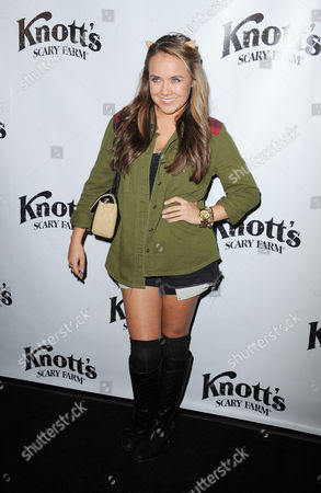 Stock Image of Jennifer Veal attends the VIP Opening of Knotts Scary Farm HAUNT on in Buena Park, Calif