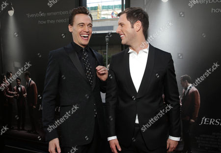 Erich Bergen and Michael Lomenda seen at the Warner Bros. Premiere of 'Jersey Boys' at the 2014 Los Angeles Film Festival held at Regal Cinemas LA Live Stadium 14, in Los Angeles