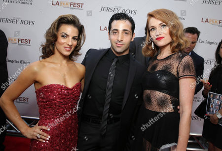 Renee Marino, Johnny Cannizzaro and Erica Piccininni seen at the Warner Bros. Premiere of 'Jersey Boys' at the 2014 Los Angeles Film Festival held at Regal Cinemas LA Live Stadium 14, in Los Angeles