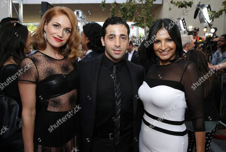 Erica Piccininni, Johnny Cannizzaro and Kathrine Narducci seen at the Warner Bros. Premiere of 'Jersey Boys' at the 2014 Los Angeles Film Festival held at Regal Cinemas LA Live Stadium 14, in Los Angeles