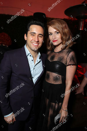 John Lloyd Young and Erica Piccininni seen at the Warner Bros. Premiere of 'Jersey Boys' at the 2014 Los Angeles Film Festival held at Regal Cinemas LA Live Stadium 14, in Los Angeles
